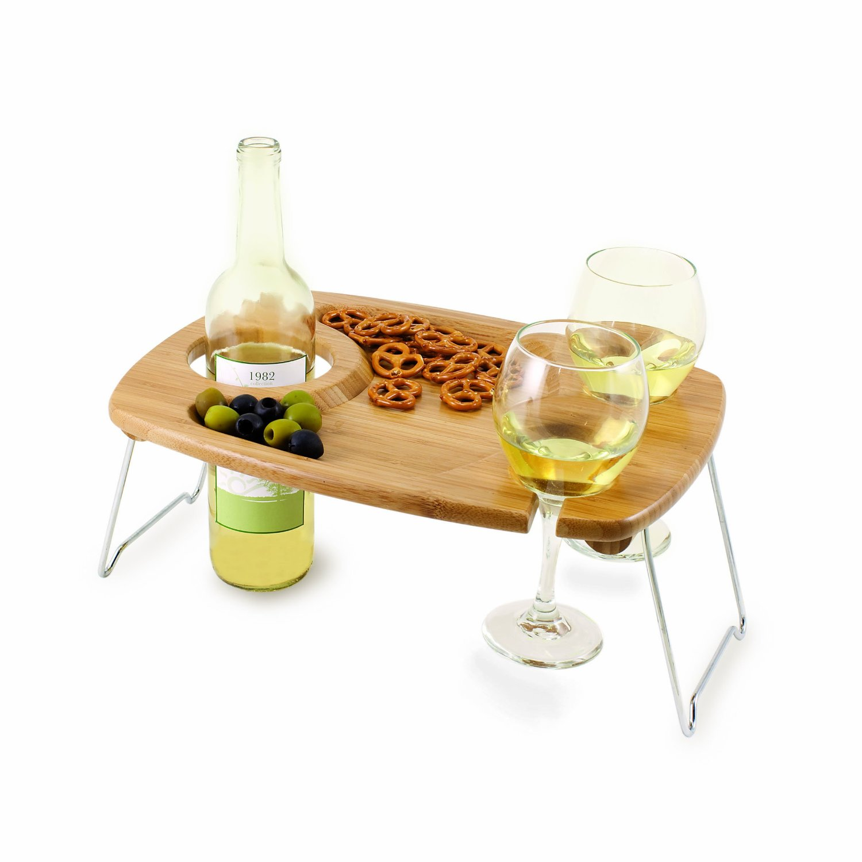 Picnic Time Mesavino Portable Wine And Snack Table 10