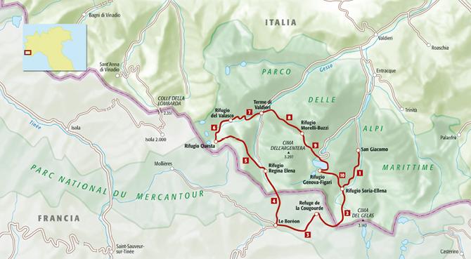 Trekking Lupo - mappa