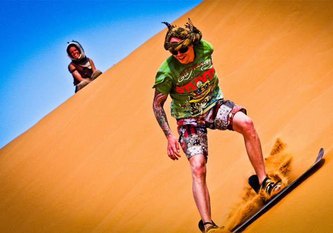 Sandboard: come imparare a surfare sulla sabbia