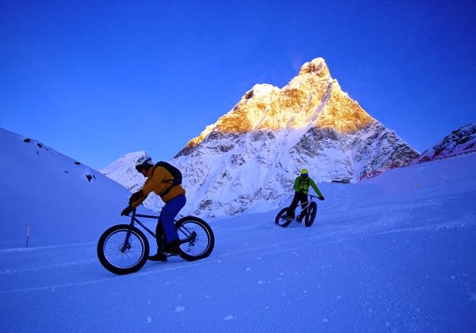 Snow downhill, in MTB sulle piste
