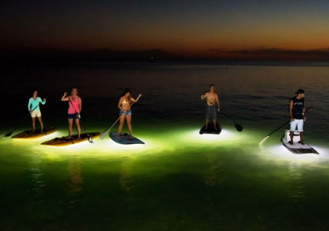 Nocqua Adventure Gear, la tavola da surf illuminata