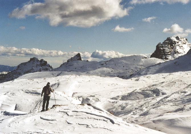 Scialpinismo sulle Dolomiti: salita a Cima Roma [blog]