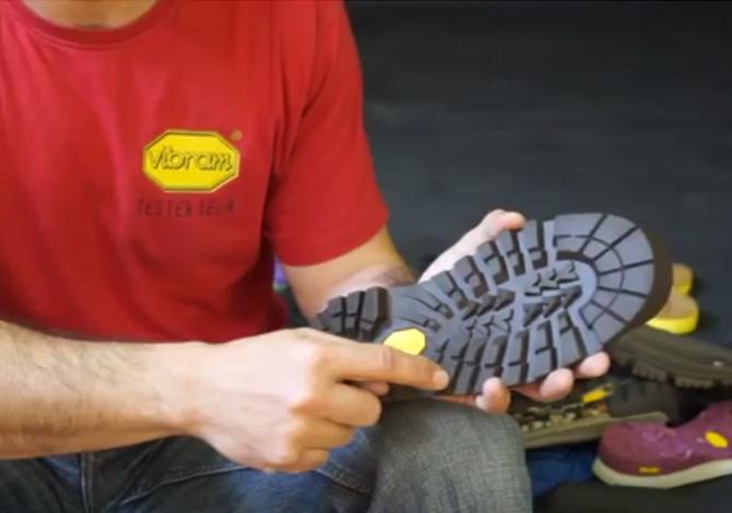 La suola delle scarpe da trekking
