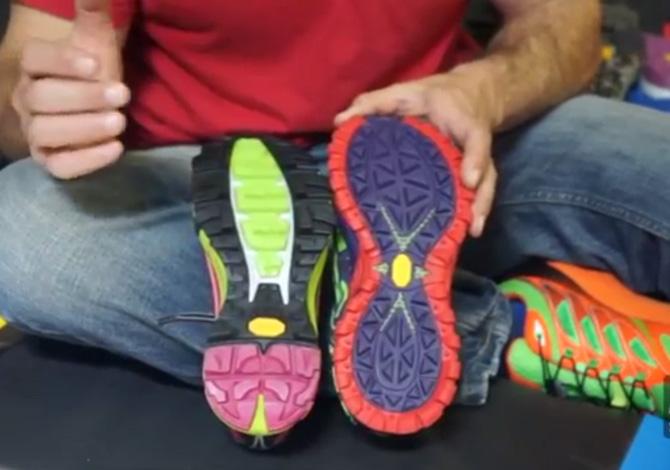 La suola delle scarpe da trail running