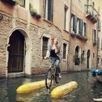 Shuttle Bike Bici pedalare sull'acqua