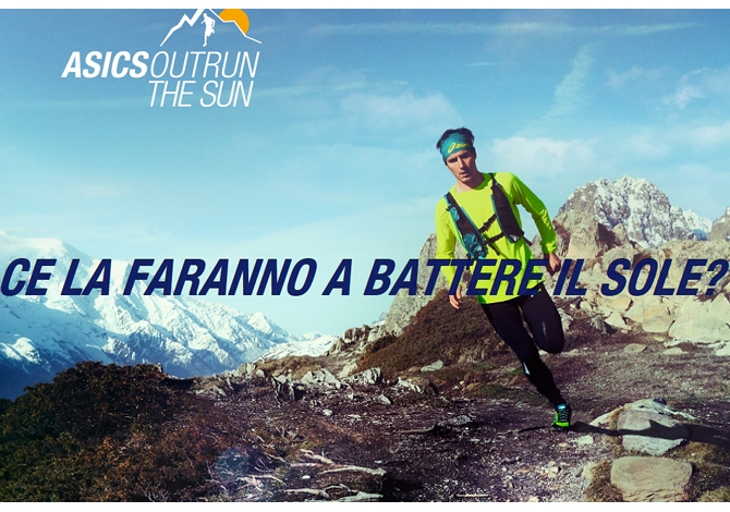 Outrun the sun asics monte bianco