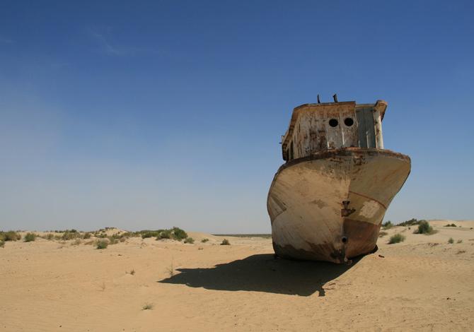 Foto: il fascino inquietante dell'Aral, il lago fantasma