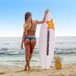 sexy surfista Anastasia-Ashley