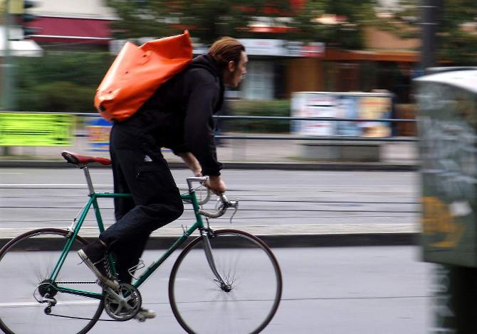 In bici in inverno in città