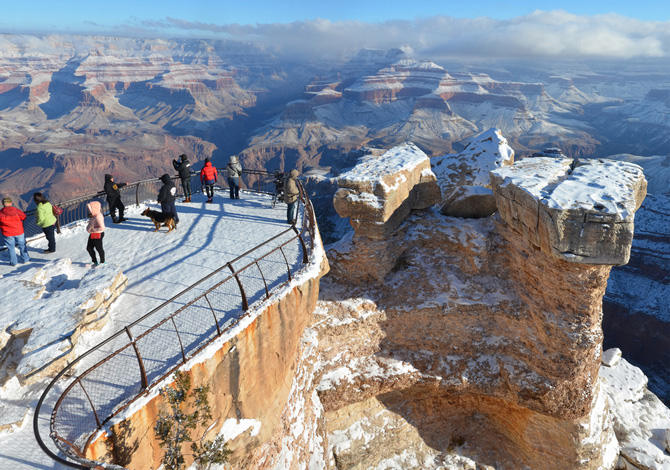 Trekking nel Grand Canyon d'inverno