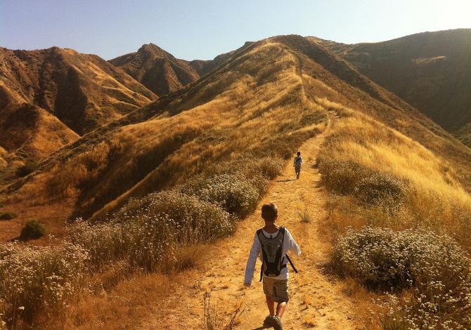 Bambini Trekking Passeggiate Montagna