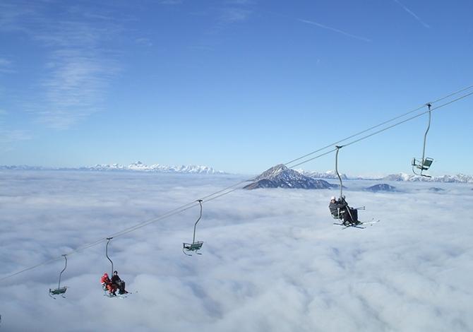7 mete per sciare low-cost a 2 ore di volo dall'Italia