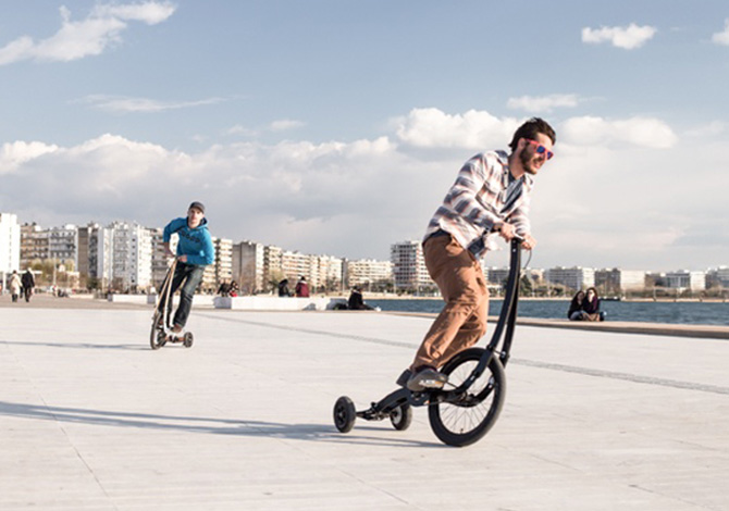 Halfbike II, il triciclo da città
