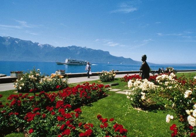 Svizzera in bici lago di Montreux