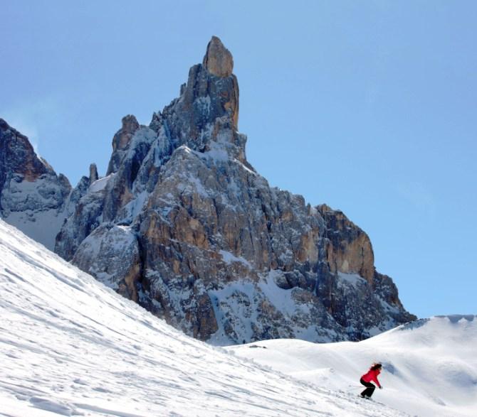 Sciare a Passo Rolle (fototeca Trentino Marketing - A. Trovati)
