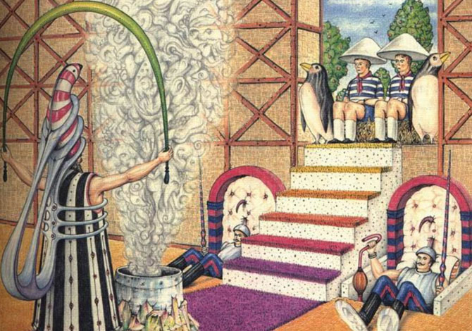 Un'illustrazione del Codex SerafinianusCredits: Silvia Malnati; Luigi Serafini