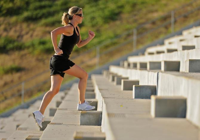 allenamento corsa sulle scale