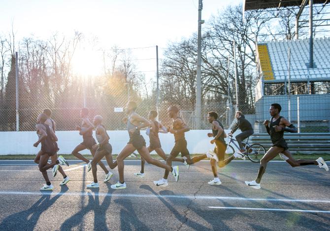 la storia di correre una maratona in meno di 2 ore