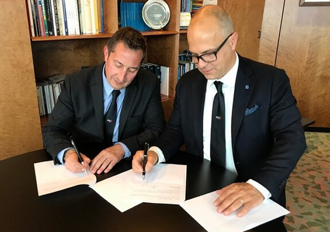 presidente FIV Francesco Ettorre e Oliviero Carducci, Olicor