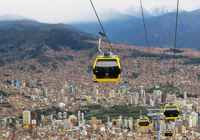mi teleferico cable car - la-paz - bolivia