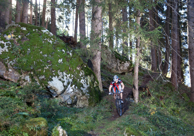 Mountainbiking in Disentis
