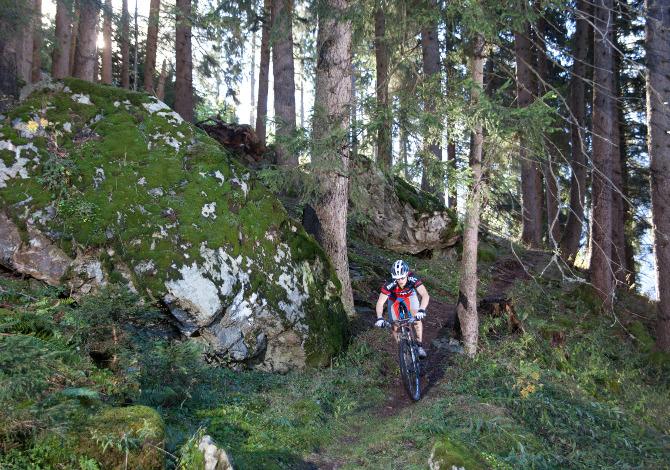 Mountainbiking in Disentis