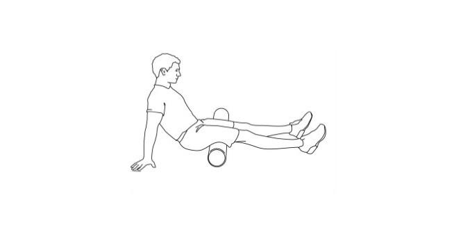 Foam Roller_Muscoli posteriori coscia Bicipite Femorale