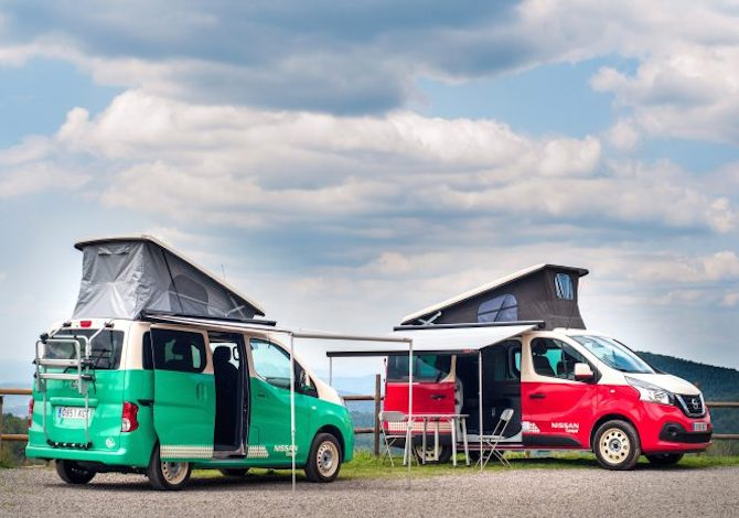 Nissan_Camper_Van_road