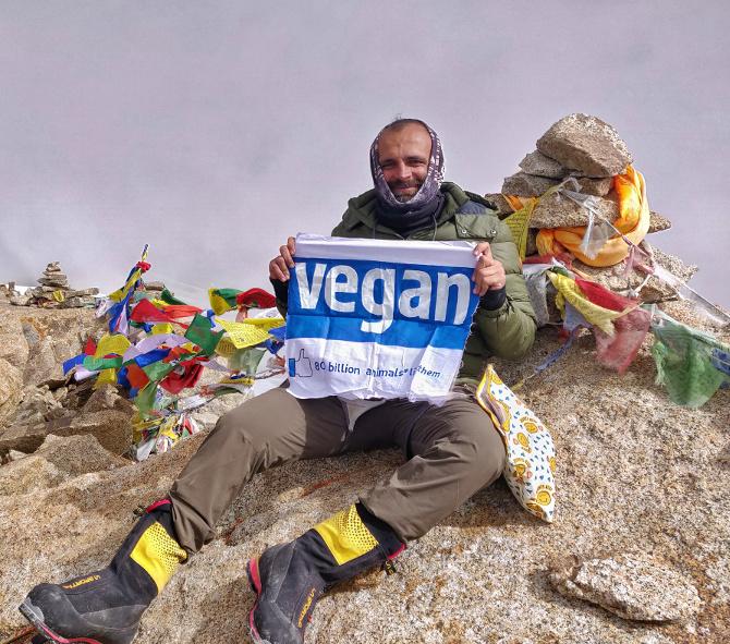Kuntal Joisher Alpinista Vegano_
