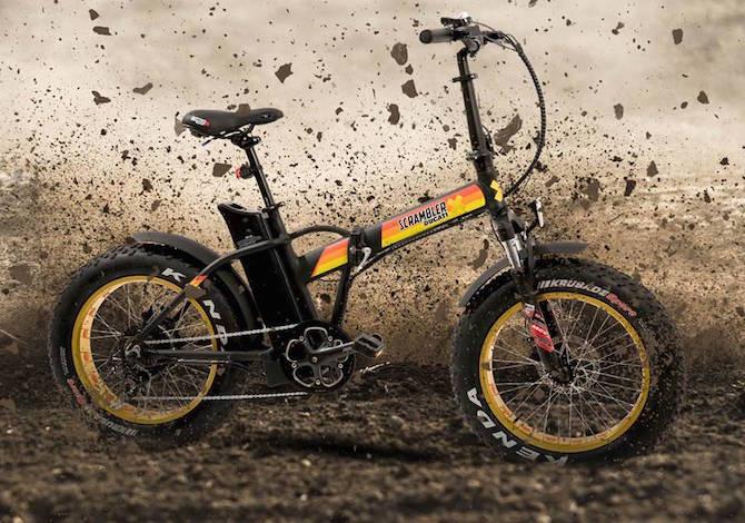 Bici Elettrica Pieghevole Ducati Scrambler Una Fat Ebike Da Città E