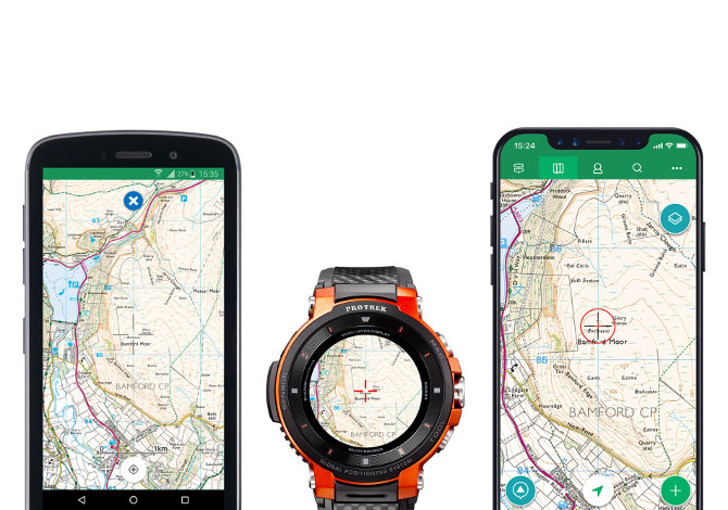Casio Pro Trek Smart e App ViewRanger