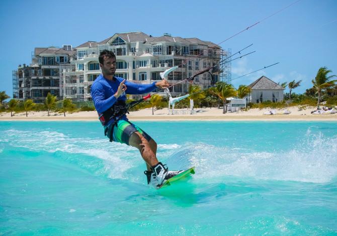 Prima volta sul kitesurf