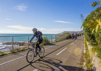 in bici in Liguria