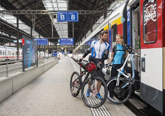 Con la bici sul treno: come fare
