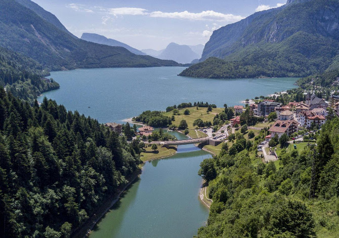 Swimrun lago di Molveno