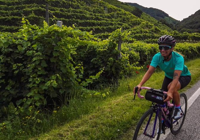 Valdobbiadene in bici