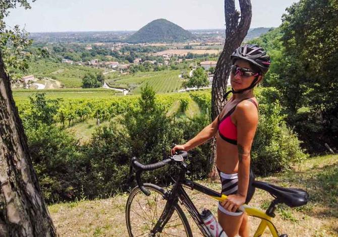 itinerari in bicicletta nei Colli Euganei