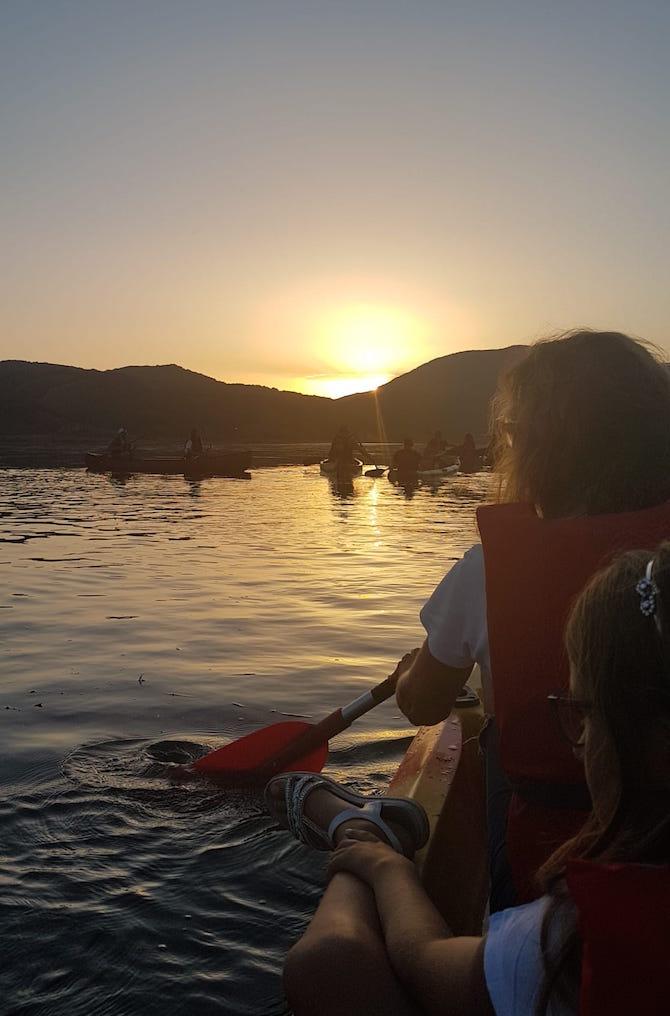 lago-matese-bambini-tramonto