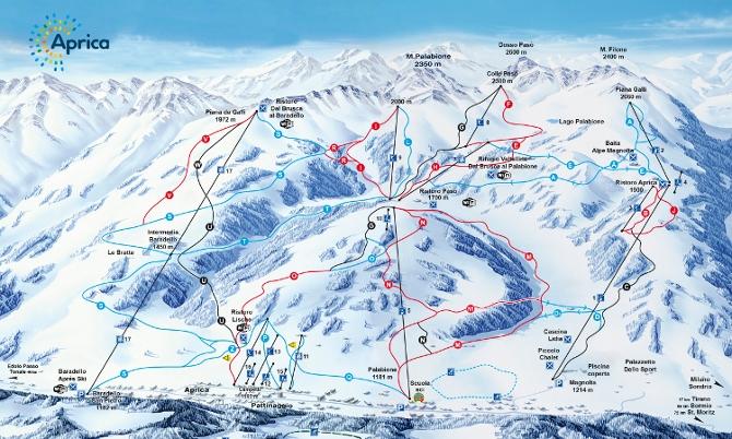 mappa piste da sci aprica