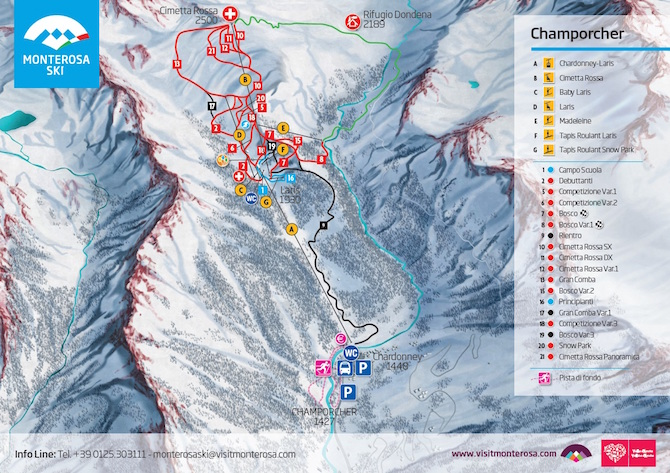 Champorcher-skimap
