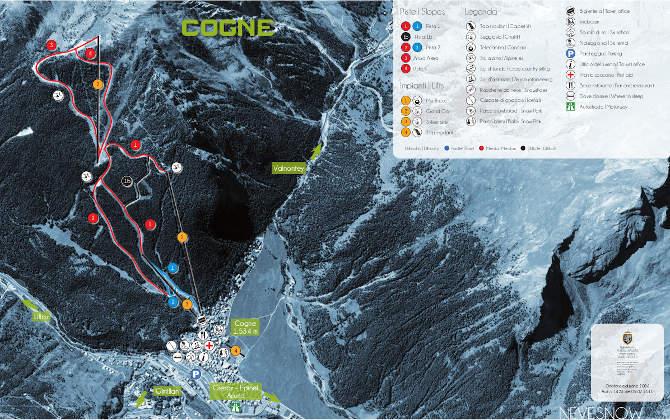Cogne Mappa Ski