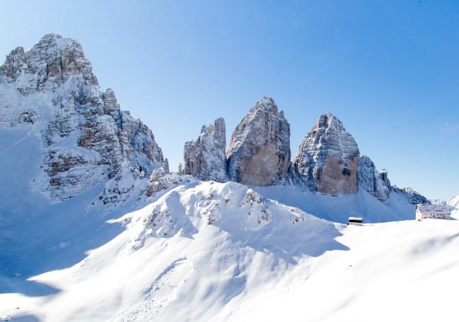 Inverno 2020 / 2021 in Alto Adige Tre Cime Lavaredo
