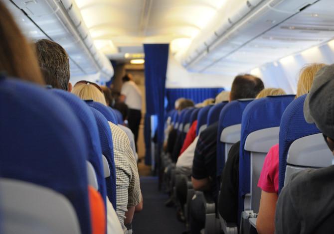 rischio covid in aereo