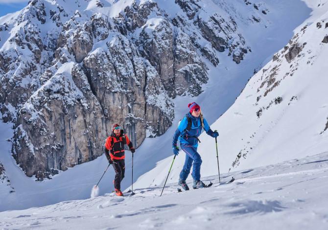 scialpinismo in zona gialla