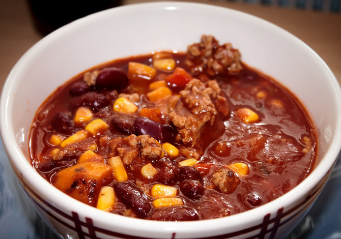 chili piccante con carne