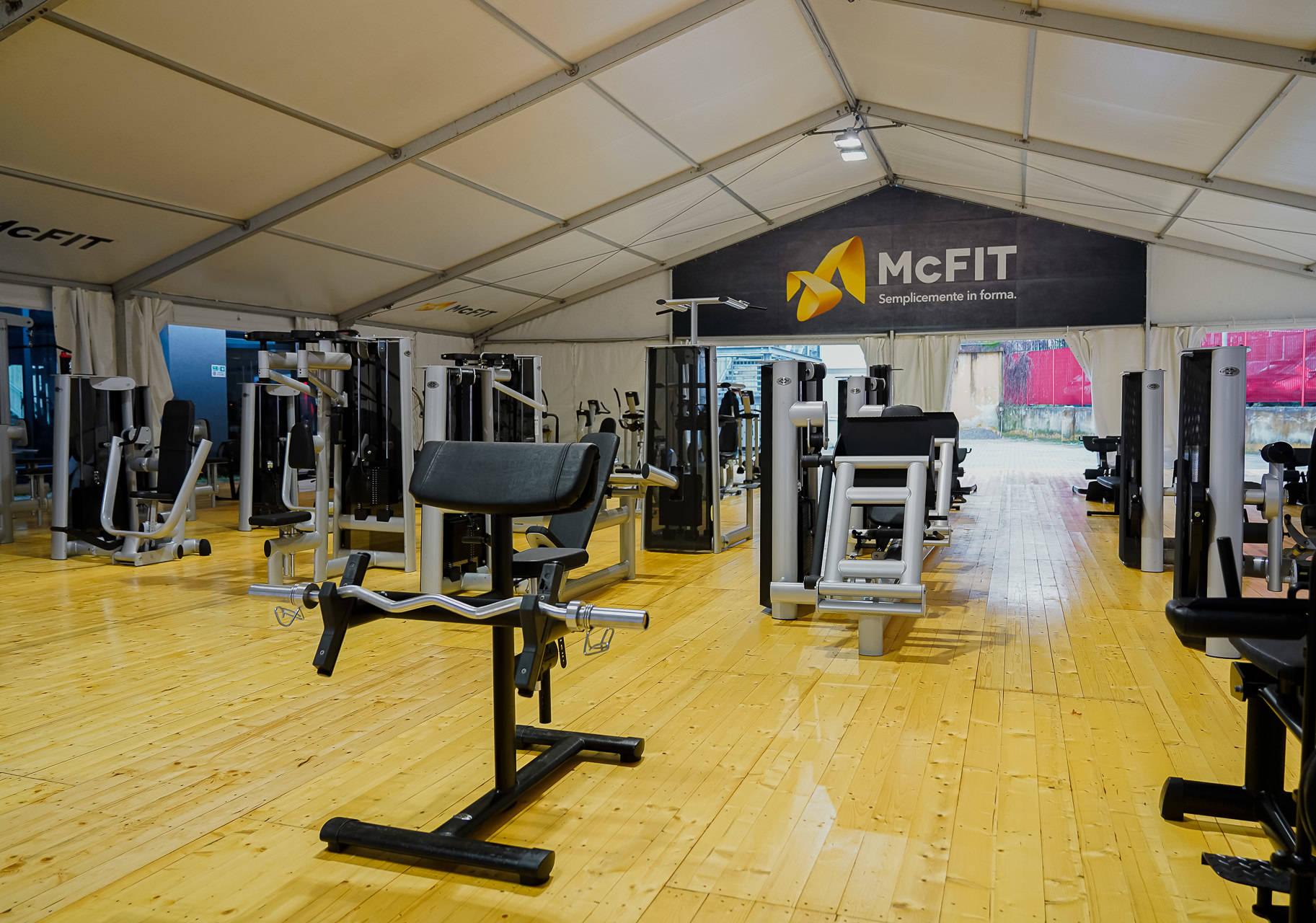 Palestre McFIT, 20 tensostrutture all'aperto per allenarsi in sicurezza