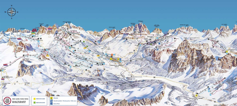 Skimap Cortina