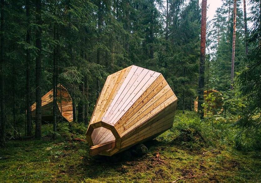 In Val di Pejo spuntano grandi megafoni in legno per ascoltare gli animali del bosco