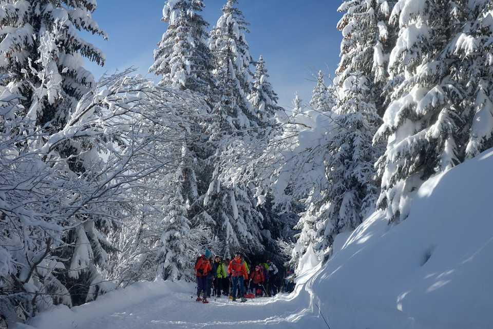 Divieto alle ciaspole sulle piste da sci