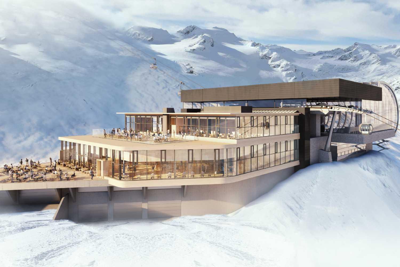 Sciare sui ghiacciai del Tirolo Ötztal Sölden